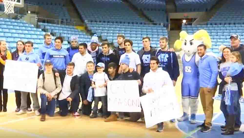 7-Year-Old Boy Battling Leukemia Signs With UNC Wrestling Team2