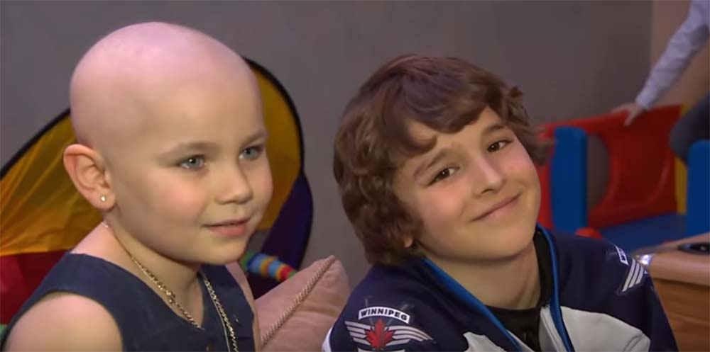 This Boy Saw A Sick Girl At A Hockey Game. What He Did For Her Had Everyone Cheering