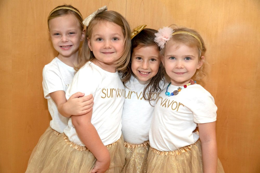 four little girls who fought cancer together reunite